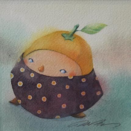 Masako Masukawa Orange child 13 x 13 cm