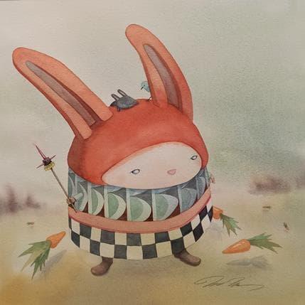 Masako Masukawa Red bunny 36 x 36 cm