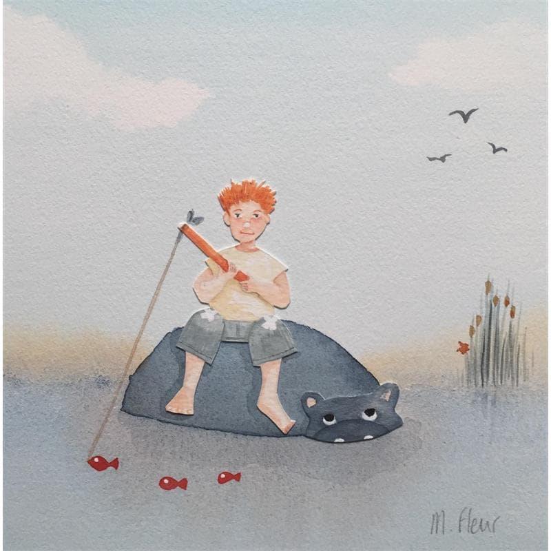 Anatole, pêcheur sur dos d'hippopo
