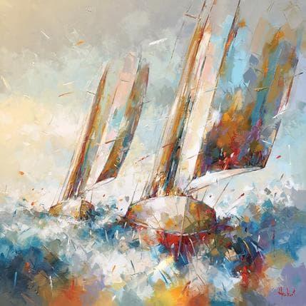 Franck Hébert En mer 100 x 100 cm