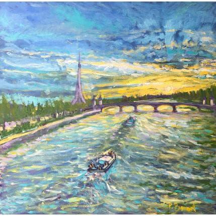 P.Bonart Balade sur la Seine 50 x 50 cm