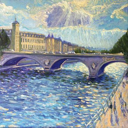 P.Bonart Pont au Change, comme un dimanche 50 x 50 cm