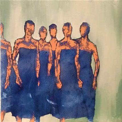 Corinne Malfreyt-Gatel Amitiés bleues 50 x 50 cm