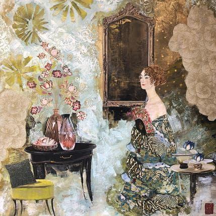 Karine Romanelli Pensée d'été 100 x 100 cm