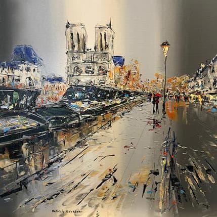 Patrick Rousseau Marcher le long du quai 50 x 50 cm