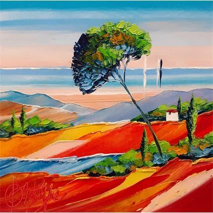 David Fonteyne Vue sur bonheur 25 x 25 cm