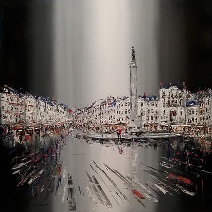 Patrick Rousseau La ville s'allume 100 x 100 cm