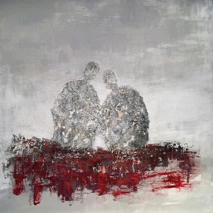 Odile Escolier La vie, devant nous 100 x 100 cm