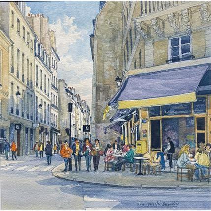 Jean-Charles Decoudun Paris, le Marais, la rue Vieille du Temple 36 x 36 cm