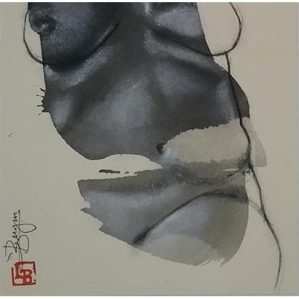 Laurent Bergues Sculpture sur tâche ventre femme 19 x 19 cm