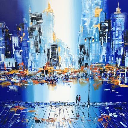 Patrick Rousseau Manhattan in blue 100 x 100 cm