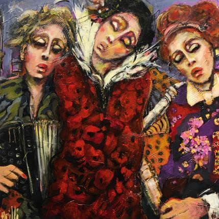 Nicole Garilli Un même amour, la musique 80 x 80 cm