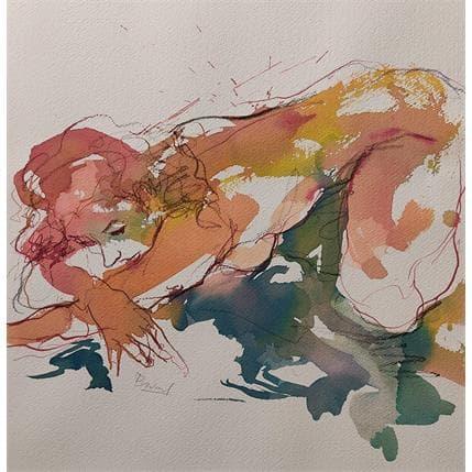 Sebastien Brunel eiza couchée bras croisés 36 x 36 cm