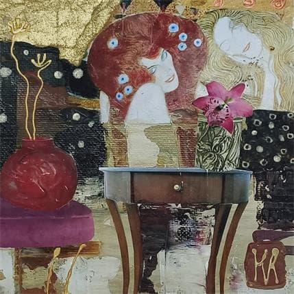 Karine Romanelli Klimt les filles 13 x 13 cm