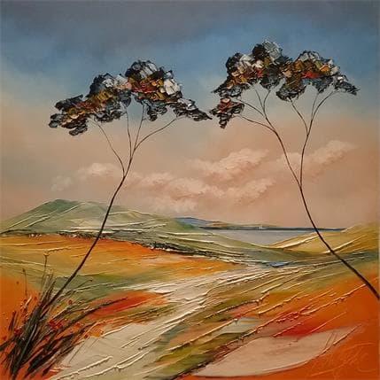 David Fonteyne Le chemin de vallauris 80 x 80 cm
