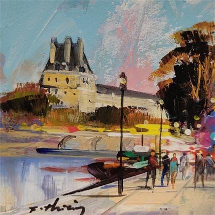 Frédéric Thiéry A votre gauche le Louvre 13 x 13 cm