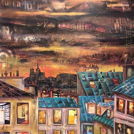 Aud C Bonne nuit Notre Dame 80 x 80 cm