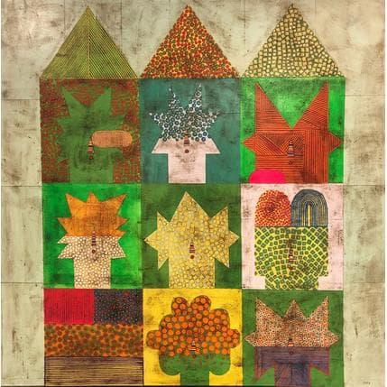 Gustavo Ortiz Green archetypes 120 x 120 cm