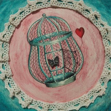 Nai Liberté pour le cœur 13 x 13 cm