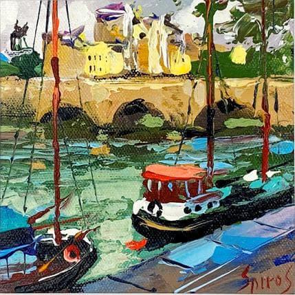 Spiros Dimitri Walking by the Seine 13 x 13 cm