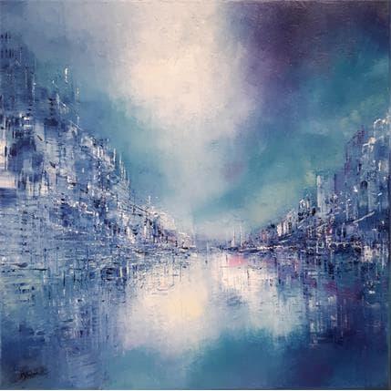Emmanuelle Levesque Magie bleue 3 50 x 50 cm
