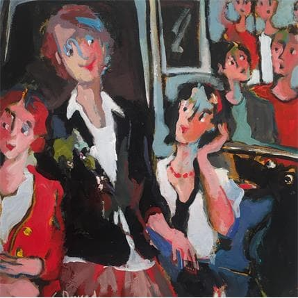 Christine Doucedame Chien dans le métro 25 x 25 cm