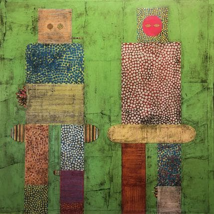 Gustavo Ortiz Twins 80 x 80 cm
