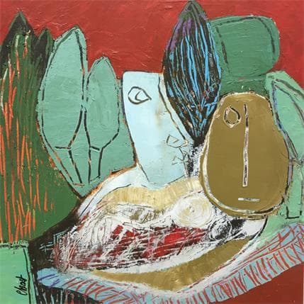 C.BOST The lunch on grass 36 x 36 cm