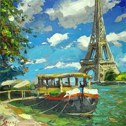 Dmitry Spiros Paris summer day 25 x 25 cm