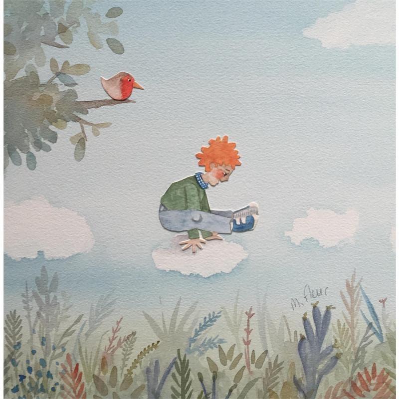 Albert joue à saute nuages