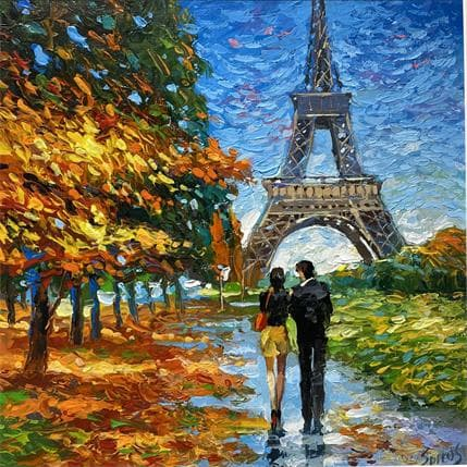 Dmitry Spiros Parisian golden autumn 36 x 36 cm