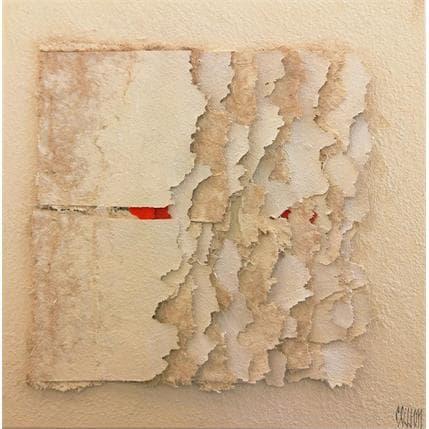 Gérard Clisson red flakes 25 x 25 cm
