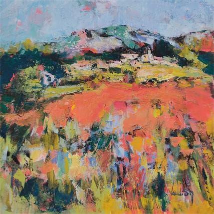 Catherine Vaudron Printemps à Lauris 36 x 36 cm