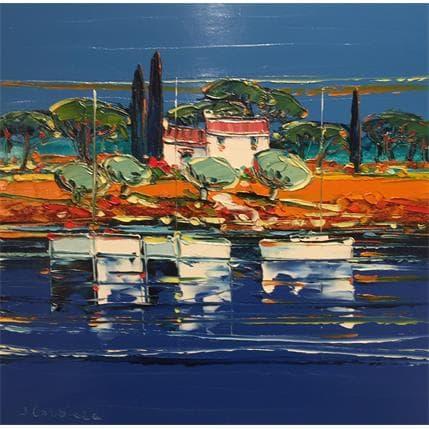 Liisa Corbière La côte à Porquerolles 36 x 36 cm