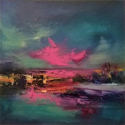 Beata Belanszky Purple city 36 x 36 cm