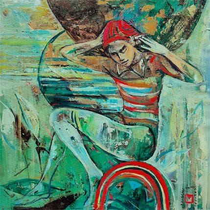 De Secondigné Le jeune garçon du cirque 36 x 36 cm