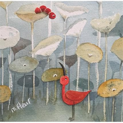 Marjoline Fleur L'ibis et la chenille 13 x 13 cm