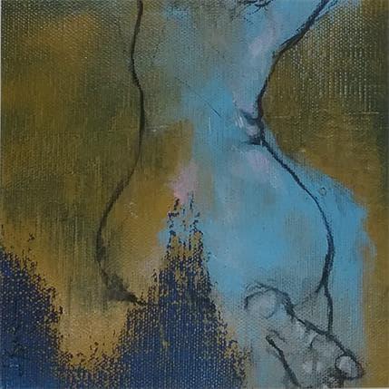 Laurent Bergues Femme assise 19 x 19 cm