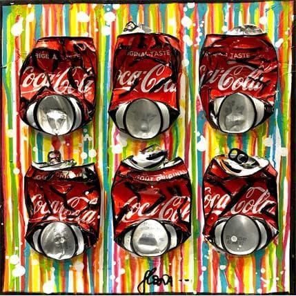 Sophie Costa Stripped coke 36 x 36 cm