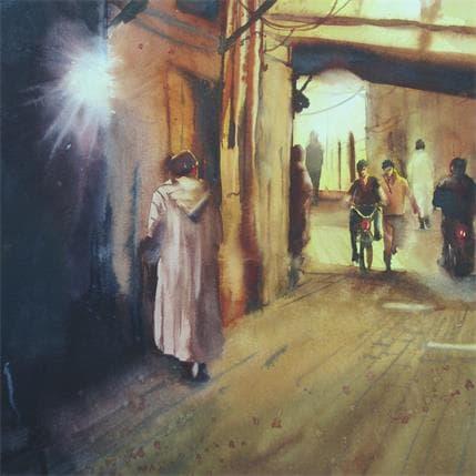 Abbatucci Violaine Dans le labirynthe de la Médina 36 x 36 cm