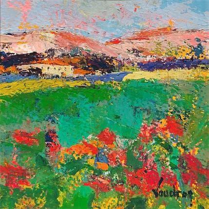 Catherine Vaudron Les collines à Lourmarin 13 x 13 cm
