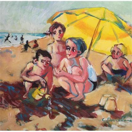 Christine Doucedame L'arrosoir jaune 25 x 25 cm