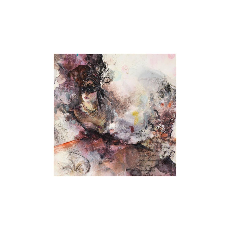 Peintures petit format Le bal masqué par Marie-Josée Bergeron - Carré d'artistes