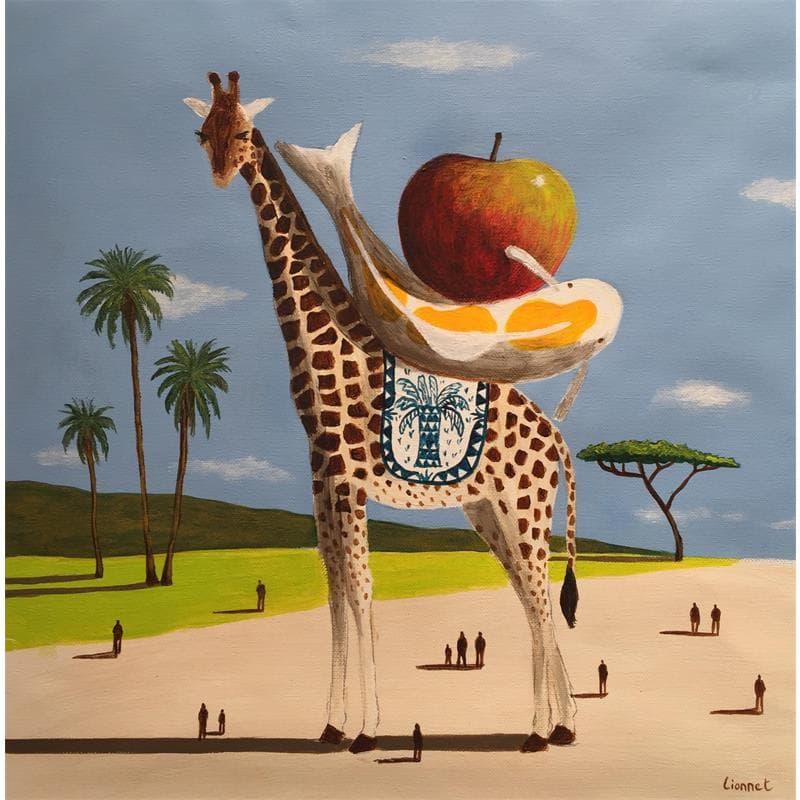 Girafe, carpe et pomme