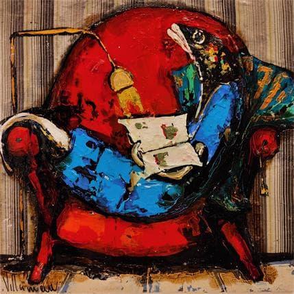 Natalia Villanueva pescadito leyendo 36 x 36 cm