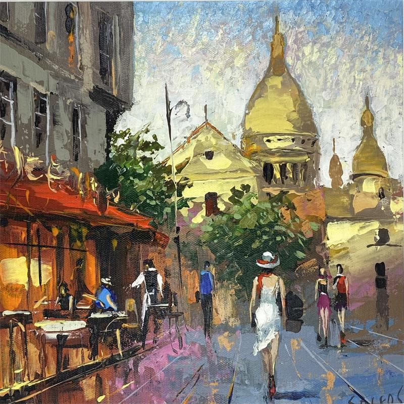 In Montmartre in the part summer