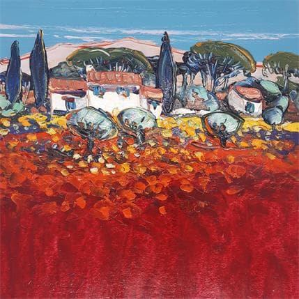 Liisa Corbière Le mazet dans les Alpilles 25 x 25 cm