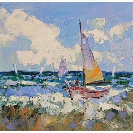 Tatiana Jmara navegando 19 x 19 cm