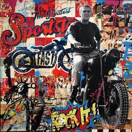 Fabien Novarino Greatest Sportster Steve 80 x 80 cm