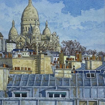 Jean-Charles Decoudun Les toits de Paris et Montmartre 25 x 25 cm
